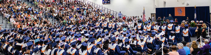 HHS crowd at graduation ceremony