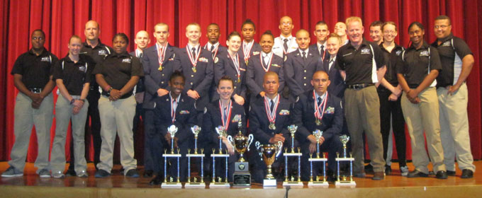 E. C. Glass Air Force JROTC State Champs