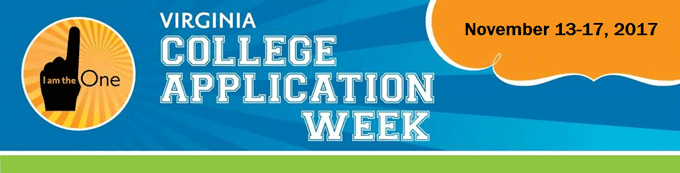 Virginia College Application Week banner
