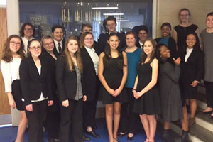 ECG Forensics team poses at competition