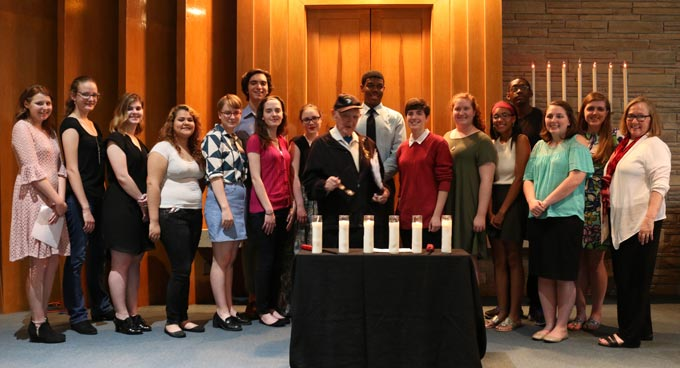 ECG students at Holocaust Remembrance Service at Agudath Sholom Synagogue