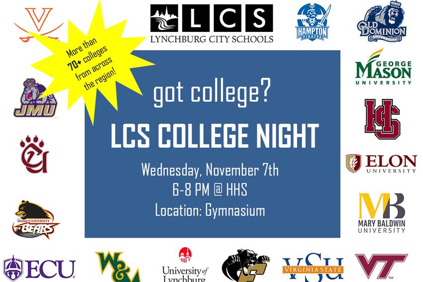 2018 college fair rescheduled for nov 7th lcs lynchburg city