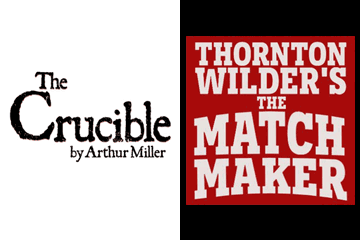 The Crucible and The Matchmaker poster graphics