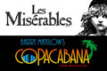 Les Miserables and Copacabana posters