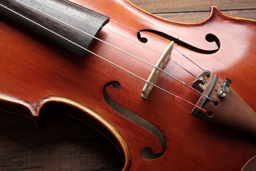 Closeup of violin