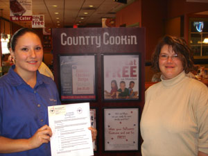 Partnership between Country Cookin and Lynchburg City Schools
