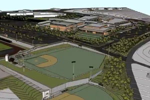 New HHS Baseball and Softball Field Rendering