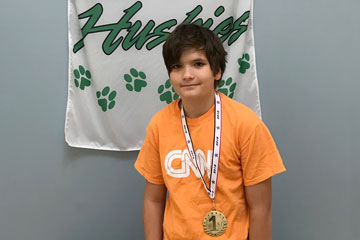 LCS 24 Challenge Math Champion with medal