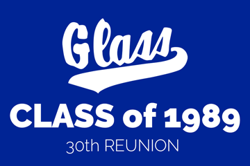Glass Class of 1989 30th Reunion