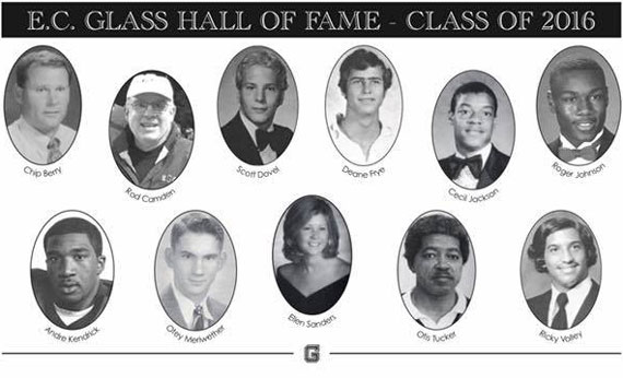 EC Glass Hall of Fame Inductees