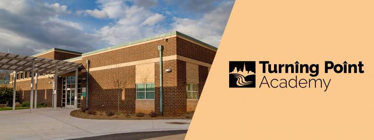 Turning Point Academy logo and Detention Center exterior